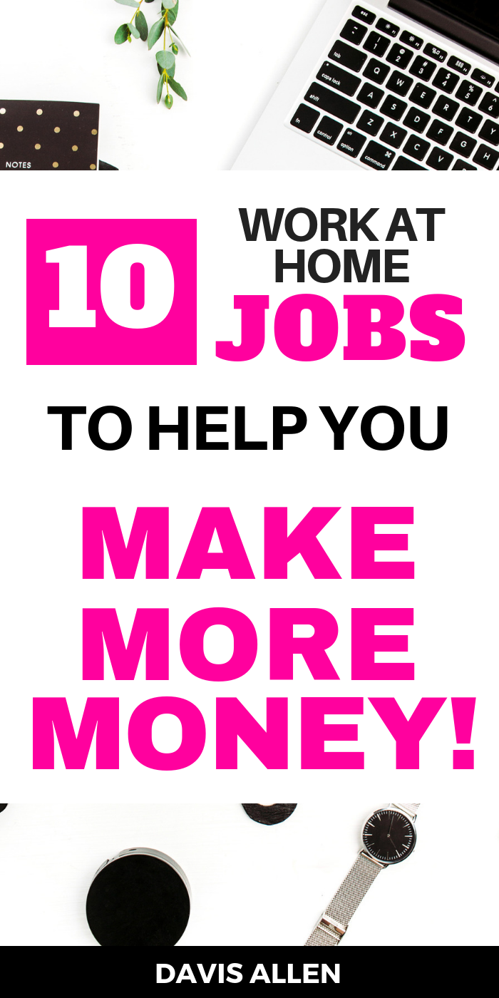 Make extra money online and work from home with these fast, easy legit online jobs. These online work from home jobs are the best ways to make money online fast. You can make money online overnight even 100 a day or 1000 a month from home. Make money from your couch with online work at home job opportunities legit
