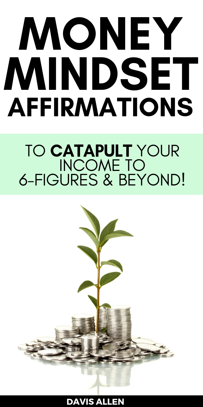 Money mindset affirmations are the best way to shift your money vibration so you can attract more money into your life. These money mindset affirmations helped get me to six figures... on my way to becoming a millionaire money mindset!